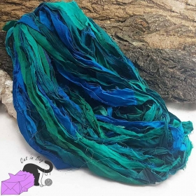 Magic Ocean - sari silk ribbons