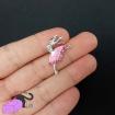 2 ciondoli con ballerina rosa