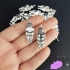 4 charms with Willendorf Fertility Goddess