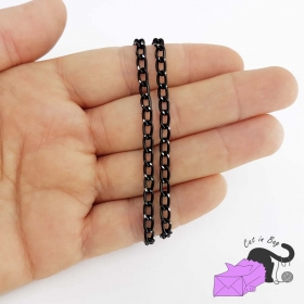 Aluminum black chain 6x3.5 mm
