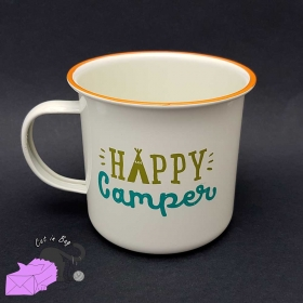 "Enamel mug ""Happy camper"""