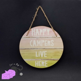 "Wall hanging ""Happy Campers Live Here"""