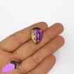 1 Goddess face cabochon in titanium purple aura quartz