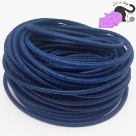 1 m di cordino in sughero, 3 mm, blu.