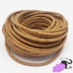 1 m of cork cord, natural color, 5 mm.