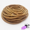 1 m of cork cord, silver natural color, 5 mm.