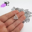 10 charms with celtic knot Triquetra