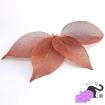 Ciondoli con foglie vere placcate in ottone color rame rosso anticato