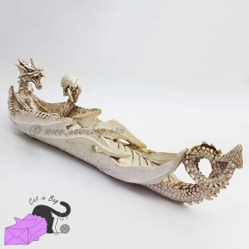Incense holder with ancient white dragon