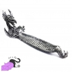 Incense holder with silver dragon and glass sphere