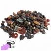 Mix di 50 gr di perle in acrilico con effetto etnico antico nei colori della terra