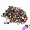 Mix of acrylic beads - assorted metallic colours