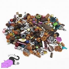 Mix di perle in acrilico con effetto etnico antico nei colori della terra
