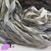 Grey - sari silk ribbons