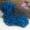 Ultramarine blue - sari silk ribbons